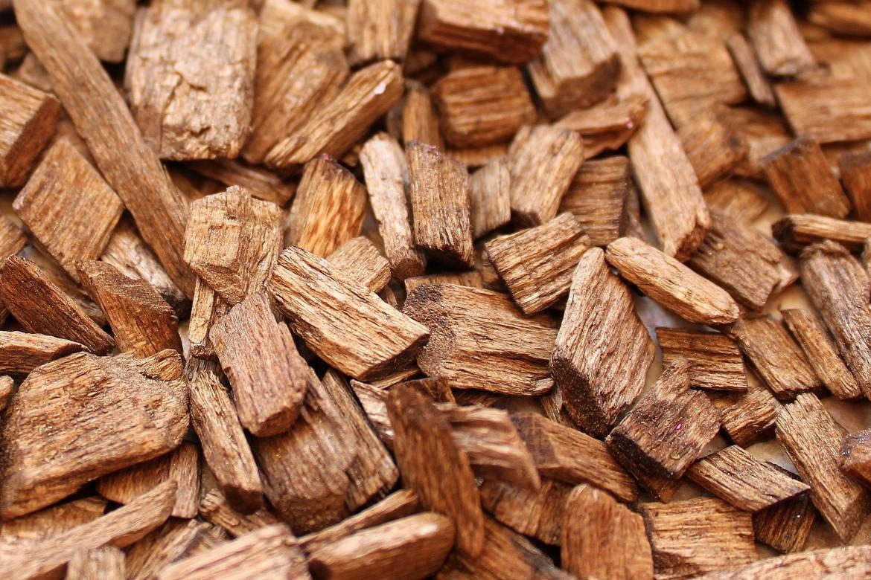 Texture de bois déchiqueté pour le chauffage